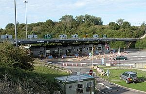 M48 motorway - M48 toll booths