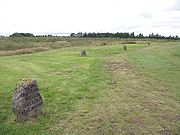 Culloden grave (road and three graves)