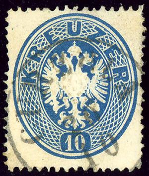 Korčula - Austrian KK stamp cancelled in Italian CURZOLA ca 1863