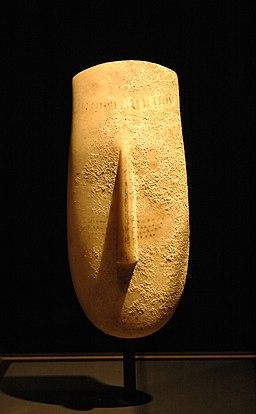 Cycladic head Getty Villa 96.AA.27