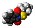Cyclohexylthiophthalimide molecule spacefill.png