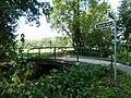 """Düsseldorf- Angermund, Lünen'sche Gasse - Die Angerbachbrücke ist ein """"Forschungsprojekt – Glasfaser-Verbund-Vorspannung"""" - panoramio.jpg"""