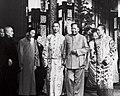 Dalai lama, panchen lama and Mao in Beijing, 1954 (cropped).jpg