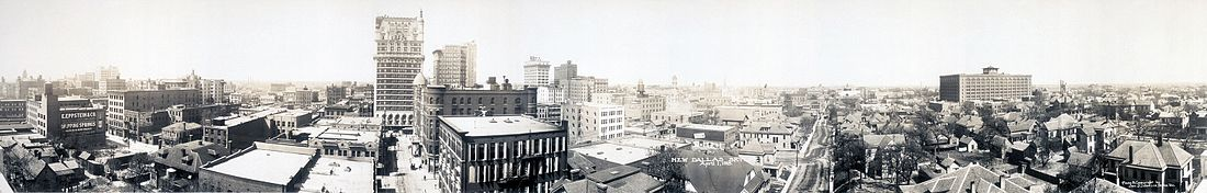 1913 Dallas panorama