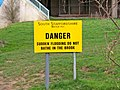 Danger no bathing sign - geograph.org.uk - 783816.jpg