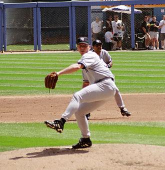 1999 New York Yankees season - Major figures in the 1999 Yankees season included (clockwise from top left) Derek Jeter, Tino Martinez, David Cone, and Bernie Williams.