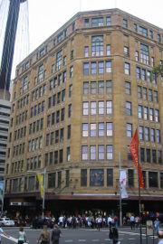 David Jones' flagship building on the corner of Elizabeth Street and Market Street, Sydney