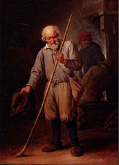 An Old Man with a Walking Stick