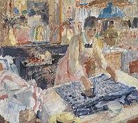 De strijkster, Rik Wouters, (1912), Koninklijk Museum voor Schone Kunsten Antwerpen, 1932.jpg