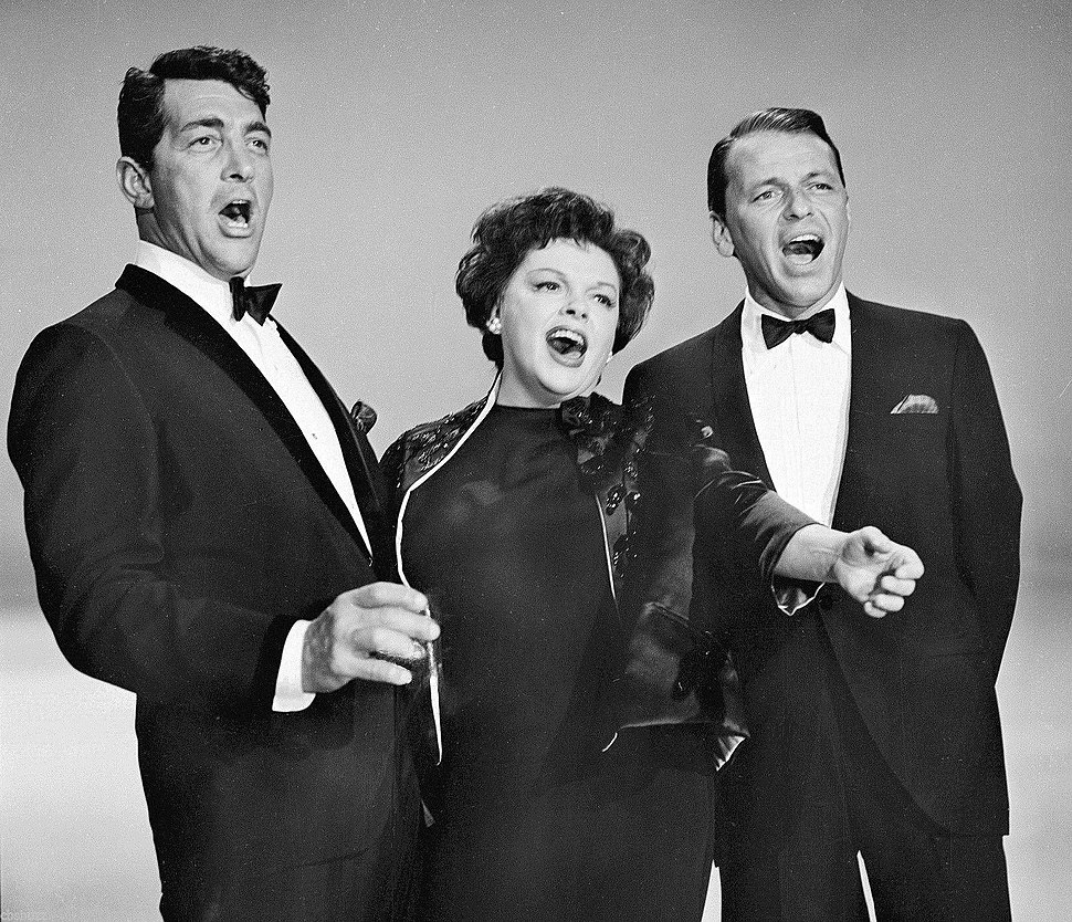 Dean Martin, Judy Garland and Frank Sinatra in 1962
