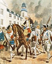 The death of the French general Montcalm, watercolor