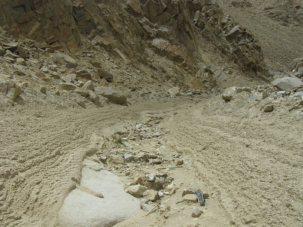 Debris flow channel, Ladakh, NW Indian Himalaya