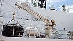 Deck crane(right) of JCG Settsu(PLH-07) at Port of Kobe July 22, 2017 02.jpg