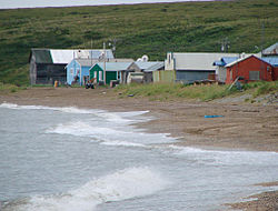 Houses along the Chukchi Sea in Deering