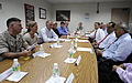 Defense.gov News Photo 100728-F-6655M-005 - Deputy Secretary of Defense William J. Lynn III talks with Saipan s Governor Bengnino Fitial during a working lunch on the island of Saipan on July.jpg