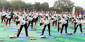 Delhi police doing yoga