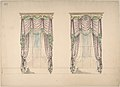 Design for Pink and White Curtains with Green Fringes, and Gold and White Pediments MET DP807202.jpg
