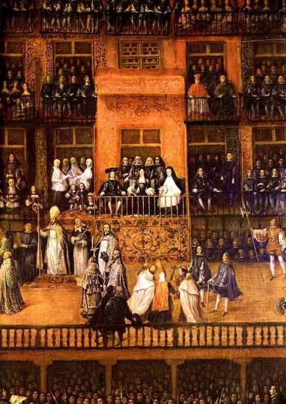 Detail of Auto de fe 1680