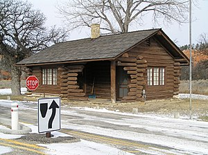 National Register of Historic Places listings in Crook County, Wyoming - Image: Devils Tower Entrance Station