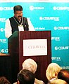 Dharmendra Pradhan addressing at a promotion event for India's new Hydrocarbon Exploration and Licensing Policy (HELP), at the CERA Week 2017, in Houston.jpg