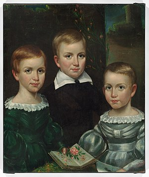 Emily Dickinson Museum - Portrait of the Edward Dickinson's children, c. 1840