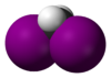 Spacefill model of diiodomethane