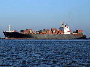 Diman II IMO 8204468 p2, leaving Port of Rotterdam, Holland 15-Dec-2007.jpg