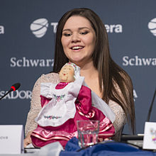Dina Garipova, ESC2013 press conference 03 (crop).jpg