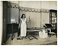 Display in the Department of Anthropology at the 1904 World's Fair showing life sized models of an Egyptian lady in her bedroom with a slave attendant.jpg