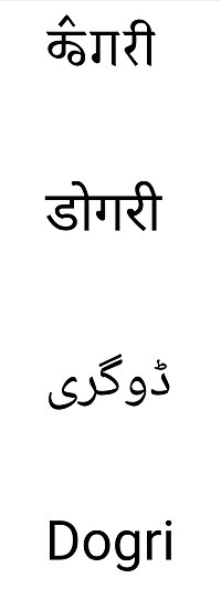 Dogri in Multiple scripts.jpg