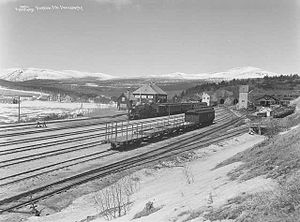 Rauma Line - Dombås Station in 1924
