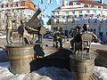 Donaueschingen - Musikantenbrunnen am Rathausplatz.JPG