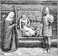 Dronning Ingerid og Gregorius egger kong Inge.jpg