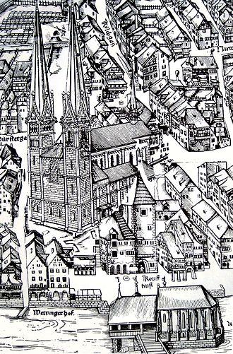 Murerplan - Image: Druck Grossmünster