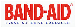 English: Band-Aid logo designed by Kevin Dresser