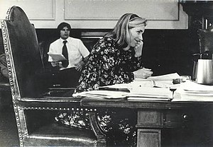 Dudley Dudley (politician) - Dudley at NH Executive Council meeting (1970s)