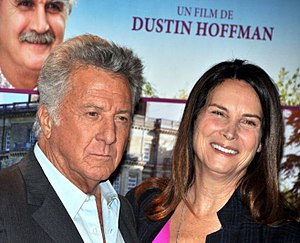 Lisa Hoffman - Lisa Hoffman with her husband, Dustin Hoffman, in March 2013, at a premiere of Quartet