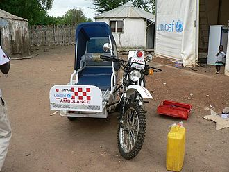 Sidecar - An eRanger motorcycle ambulance in southern Sudan