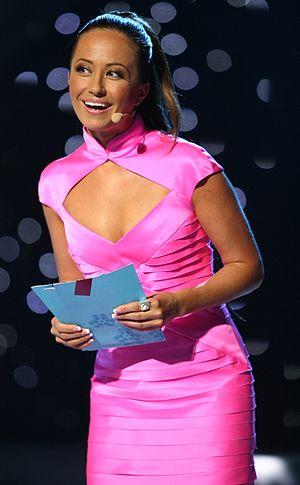 Jaana Pelkonen - Image: ESC 2007 Jaana Pelkonen presenting the semifinal