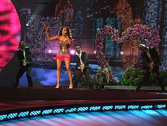 Greece in the Eurovision Song Contest - Image: ESC 2008 Greece Kalomira, 1st semifinal