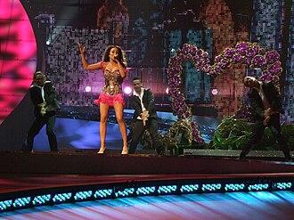 Greece in the Eurovision Song Contest - Image: ESC 2008 Greece Kalomira, 1st semifinal