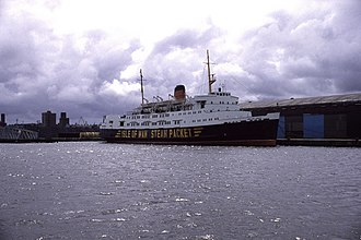 SS Ben-my-Chree (1965) - Ben-my-Chree at East Float, Wallasey Docks.