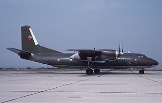 Air Forces of the National People's Army - DDR Air Force Antonov An-26T at Dresden in August 1990, one week before the Air Force was grounded.