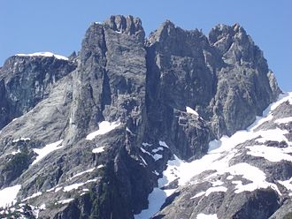 Golden Ears Group - Edge Peak from the north