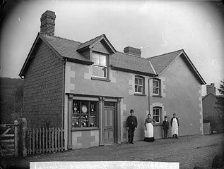 Edward Francis' shop, Carno