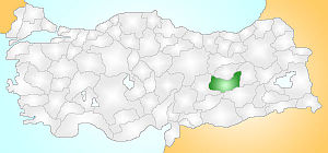 Elazığ Turkey Provinces locator