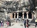 Elephanta caves in elephanta island off of Mumbai.jpg