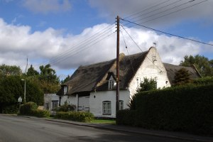 Elm, Cambridgeshire - Thatched farmhouse in the village of Elm, Cambridgeshire.
