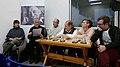 En Fundación Mario Benedetti, Sitio de poesía. Leyeron- Ana Strauss, Jorge Nández, Eduardo Nogareda, Víctor Cunha y Claudia Magliano. Coordina Diego Cubelli.jpg