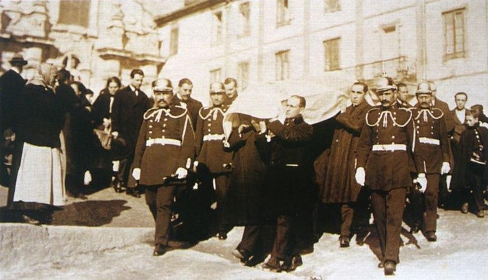 Enterro de Murguía, 1923